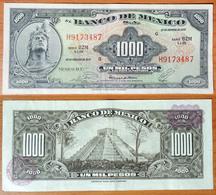 Mexico 1000 Pesos 1977 VF Purple Seals - Mexico