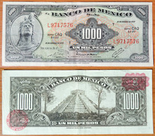 Mexico 1000 Pesos 1977 Red Seals - Mexique