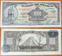 Mexico 1000 Pesos 1977 Dark Blue Seals - Mexico