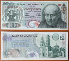 Mexico 10 Pesos 1977 AUNC P-63i - Mexico