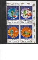 APPOLO 11, 12, 14 Et APPOLO 15 / Morceau De Feuillet Incomplet De 4 Timbres Oblitérés./Poste Aérienne - Space