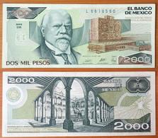 Mexico 2000 Pesos 1989 AUNC (Sign.1) P-86c - Mexique