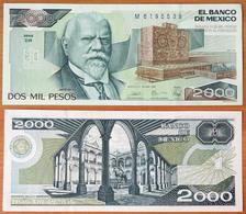 Mexico 2000 Pesos 1989 AUNC (Sign.2) P-86c - Mexique
