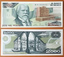 Mexico 2000 Pesos 1989 UNC (Sign.2) P-86c - Mexique