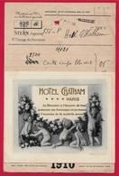 Document D'Archives Du Graveur STERN Passage Des Panoramas 75002 Pour Carte De Voeux De L' Hôtel CHATHAM - Imprimerie & Papeterie