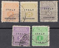 SICILIA, OCCUPAZIONE INTERALLEATA - 1943 - Cinque Valori Usati: Yvert 1/4 E 6. - Occup. Anglo-americana: Sicilia