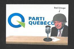 POLITIQUE DU QUÉBEC - RENÉ LÉVESQUE ET LE PARTI QUÉBÉCOIS - CULTURE QUÉBÉCOISE OU LANGUE FRANÇAISE - CARICATURE - Personnages