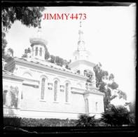 Plaque De Verre - L' Eglise Russe En 1898 - Cannes 06 Alpes Maritimes - Taille 43 X 45 Mlls - Plaques De Verre