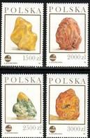 4 Various Pieces Of Amber, Poland Stamp SC#3136-3139 MNH Set - 1944-.... République