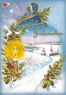 Winter Scene - Landscape - Paysage De Scène D'hiver - Red Cross 2002 - Suomi Finland Post - Postage Paid - Croix-Rouge