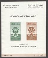 1960  Année Mondiale Du Réfugié  Bloc Feuillet  **  MNH - Liban