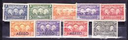 ECUADOR 1936 GEODESICAL LA CONDAMINE MISSION MNH-MH SC# 347-351 C39-C42 - Equateur