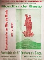Mondim De Basto - Santuário De Nossa Senhora Da Graça - Programa. Vila Real - Programmes
