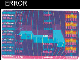 KIRIBATI 1993 Maps Flags $1.60 ERROR:messy Shift - Kiribati (1979-...)