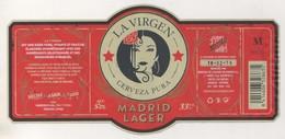 BIERE LA VIRGEN MADRID LAGER - BRASSERIE BEBIDAS DE CALIDAD DE MADRID ESPAGNE - VOIR LE SCANNER - Beer