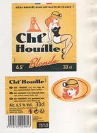 BIERE CHT' HOUILLE - PIN UP, THEME MINE, BRASSERIE GOUDALE A ARQUES PAS DE CALAIS - VOIR LE SCANNER - Beer