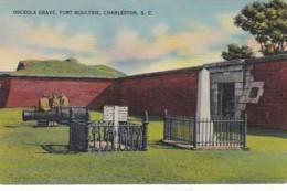 South Carolina Charleston Fort Moultrie Seminole Indian Chief Osceola Grave - Charleston