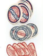 3 Lots De 10  étiquettes De Biéres Brasserie -cousinne-froyennes - Beer