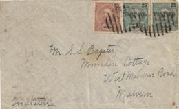 Angola (Portugal) 1904 Cover To England - 15r 25r (2) Carlos Franking - Angola