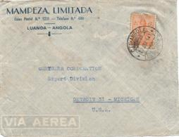 Angola (Portugal) - 1948 CERES Airmail Cover To USA - Mampez, Limitada, Luanda - Angola