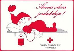 Brownie Is For Blood Donation - Virpi Pekkala - Red Cross - Invitation Card For Blood Donation - Croix-Rouge