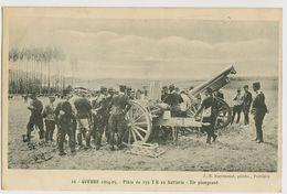 00871 - VIENNE - BIARD - GUERRE 1914-15 - Pièce De 155 TR En Batterie - Tir Plongeant - Vouneuil Sous Biard