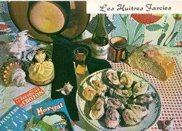 Recette De Cuisine Les Huitres Farcies   CPM Ou CPSM - Recettes (cuisine)