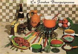 Recette De Cuisine La Fondue Bourguignonne CPM Ou CPSM - Recipes (cooking)