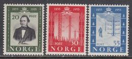 Norway 1954 - 100 Jahre Telegraphie In Norwegen, Mi-Nr. 387/89, MNH** - Norvège