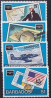 Barbados (Sc #682-85) MNH (Complete Set Of 4) AMERIPEX (1986)s1 - Barbades (1966-...)