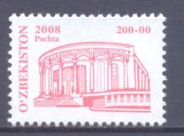 2008. Uzbekistan, Definitive, Architecture, Theatre, 200-00, 1v,  Mint/** - Ouzbékistan