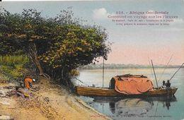 Afrique Occidentale, Sénégal - Comment On Voyage Sur Les Fleuves, Boy - Collection Fortier, Carte Colorisée N° 325 - Senegal