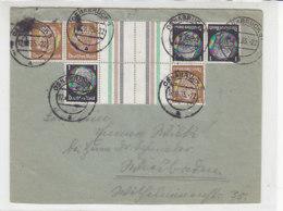 Brief Mit KZ + Normalen Zusammendruck Aus OSNABRÜCK 12.9.35 / Brief War Gefaltet - Deutschland