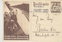 Erster Spatenstich Ganzsache .. Aus GELSENKIRCHEN 8.11.36 - Duitsland