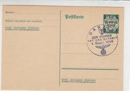 P 284 Mit Blanko Stempel DANZIG .. Hat Uns Befreit 1.9.39 - Deutschland