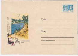 Latvia USSR 1968 Gauja River - Lettonie