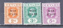 CEYLON  MR 1-3    * - Ceylon (...-1947)