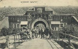 Wijnegem :  Ingang Fort 1  ( Geschreven 1922 Met Zegel ) - Wijnegem