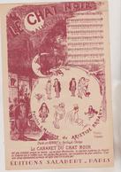 (GEO1)LE CHAT NOIR , BONNET Au Pavillon De L'horloge   , Musique Et Paroles ARISTIDE BRUANT   , Illustration STEINLEN - Partitions Musicales Anciennes