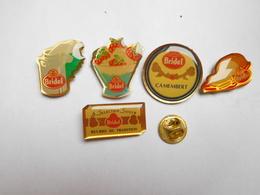 Belle Série De 5 Pin's Différents , Fromage Bridel , Beurre - Food