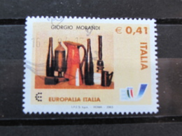 *ITALIA* USATI 2003 - EUROPALIA 2003 MORANDI - SASSONE 2706 - LUSSO/FIOR DI STAMPA - 6. 1946-.. Repubblica