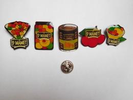 Belle Série De 5 Pin's Différents , Confiture St Mamet , Compote - Food