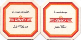 #D191-050 Twee Viltjes Wiel's - Sous-bocks