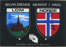 NORGE -  LOM    ( Card  Stickers  15 X 10.5  Cm ) - Norvège