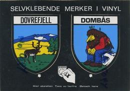 NORGE -  DOVREFJELL  -  DOMBAS  ( Card  Stickers  15 X 10.5  Cm ) - Norvège
