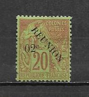 Colonies Timbre De Réunion De 1891 N°29 Neuf * - Reunion Island (1852-1975)