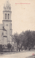 BERG19-  LANOUAILLE    EN  DORDOGNE L'EGLISE   CPA  CIRCULEE - Unclassified