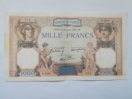 FRANCIA 1000 FRANCS 1938 - 1871-1952 Circulated During XXth