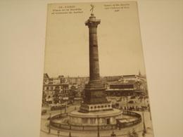 PARIS PLACE DE LA BASTILLE ET COLONNE DE JUILLET 1925 - Other Monuments