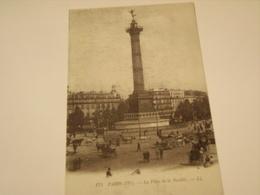 PARIS LA PLACE DE LA BASTILLE - Squares